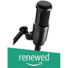 Audio-Technica AT2020 Cardioid Condenser Studio Microphone, Black (Renewed)