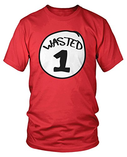 Amdesco Men's Wasted 1 T-Shirt, Red Large