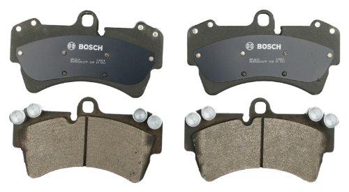 Bosch BP1014 QuietCast Premium Semi-Metallic Disc Brake Pad Set For: Audi Q7, R8; Porsche Cayenne; Volkswagen Touareg, Front (Pad Sensor Brake Audi)