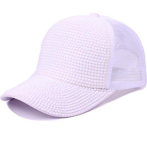 Hip de Gorra deportes 1 de de Sombrero Sombrero ajustable Sombrero Hop sol transpirable la de Protección primavera Moda de Gorra Gorra verano béisbol y solar Sombrero Blanco Sombrero transpirable 6n41SwqCHx