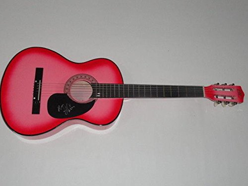 Maggie Lindemann Signed Hot Pink Acoustic Guitar Pretty Girl Obsessed ()