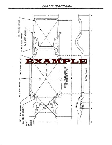 1972 FORD MAVERICK & MERCURY COMET LAMINATED FRAME DIAGRAM