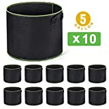Best Grow Pots - Delxo 10-Pack 5 Gallon Grow Bags Heavy Duty Review