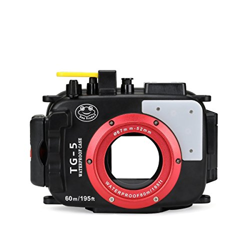 Seafrogs Waterproof case for Olympus TG-5, with Dome Port and Full Color Red Filter Kit, Underwater Camera Housing Case/ 60m/195ft, Apply to take Half Above Water Half Underwater Video/Pictures-Black by HolaFoto (Image #4)