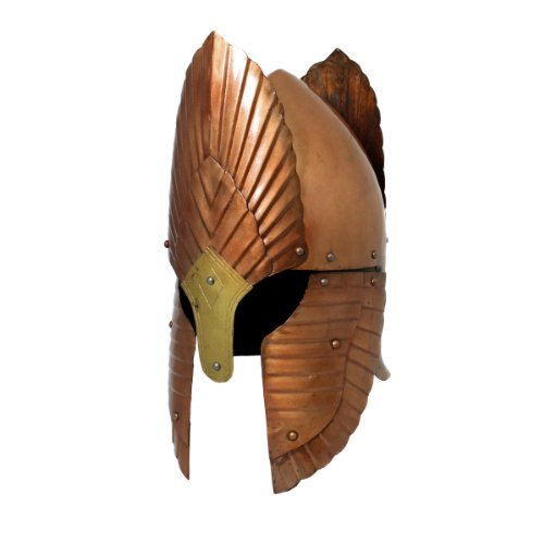 Urban Designs Imported Handcrafted Lord of The Rings Gondor Distressed Battle Armor Helmet - Bronze,