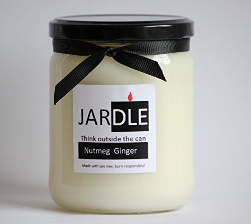 (Eco Friendly Soy Candle With Cotton Wick 16 oz Nutmeg Ginger)