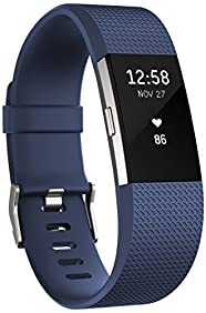 Fitbit Charge 2 Heart Rate + Fitness Wristband, Blue, Large (International Version)