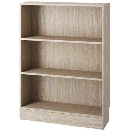 Element Short Wide 3-shelf Bookcase Oak