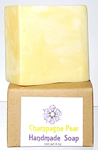 Flowersong Handmade Soap, Champagne Pear - Face Pear Shape