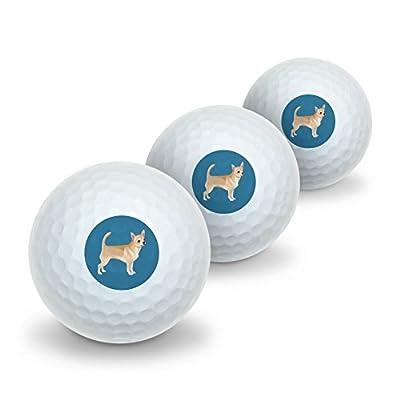 Graphics and More Chihuahua Dog Pet Drawing Novelty Golf Balls 3 Pack