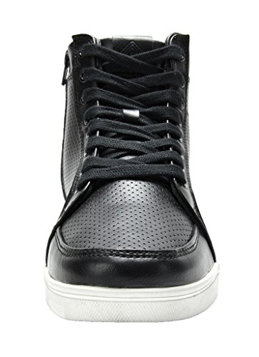 Tim Laced Vintage Shoes Zipper High 5002 Men's Up White Sneakers Aviator Side Black Casual Top Boots xtUwYaqvq