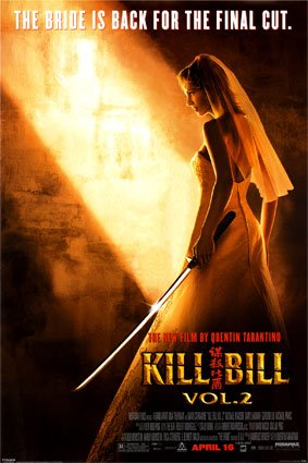 KILL BILL 2 UMA SWORD MOVIE POSTER - RARE NEW 24X36