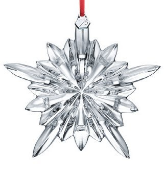 Baccarat #2804659, 2013 Courchevel Snowflake Ornament Clear (Baccarat Christmas Ornament)