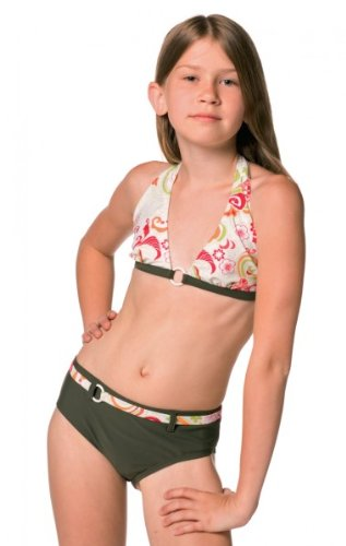 Elemar Mädchen Bikini Neckholder Gr 152 Neu Farbe145 Oliv