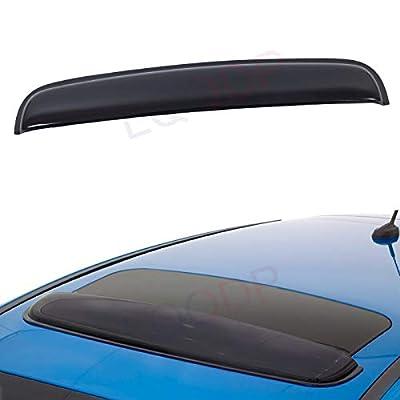 "LQQDP Set of 1 35"" / 89cm (34"" Between The Inner Edge) Universal Small Size Smoke Acrylic Tape-On Sun/Rain Guard Top Sun/Moon Roof Visor Fit 28""-34"" Moonroof/Sunroof: Automotive"