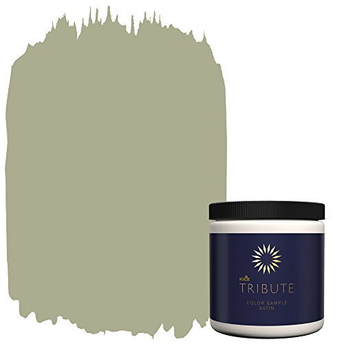 KILZ TRIBUTE Interior Satin Paint & Primer In One,  8-Ounce Sample, Almost Sage (TB-88) (Green Sage Satin)
