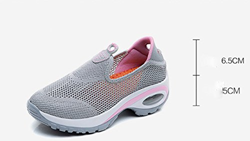 Shoes Leisure Breathability Hiking Anti Shoes Women's Slip Mountaineer Stretchy Black Wearable Running Sports AWqnAwTFfx
