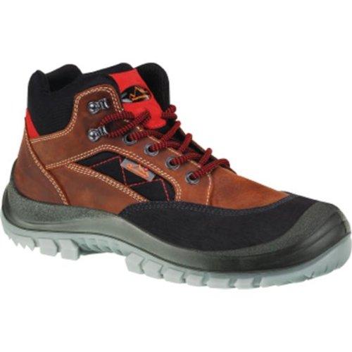 Sicherheitsschnürstiefel Nubukleder, Stahlsohle, b, Schuhgröße : 38, Farbe : braun