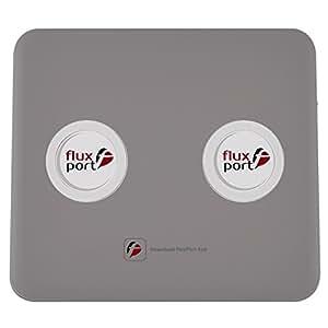 Fluxport Accudouble Ikili Taşınabilir Kablosuz Şarj Platformu, 20000 Mah'Lik, Mat Gri