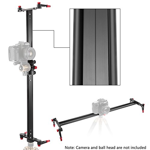 Neewer 23.6 inches/60 centimeters Aluminum Alloy Camera Track Slider Video Stabilizer Rail with 4 Bearings for DSLR Camera DV Video Camcorder Film Photography, Load up to 17.5 pounds/8 kilograms