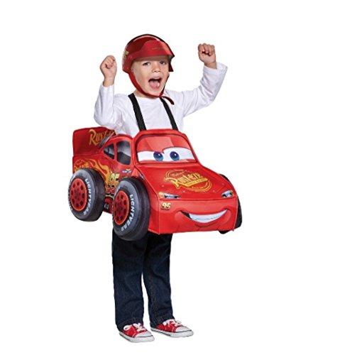 Cars Lightning McQueen 3 D Deluxe Toddler Costume With Helmet