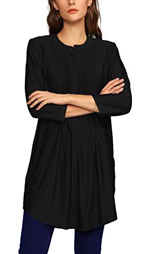 1 Urban Femme Lache Shirt Chemise Tunique GoCo Manche Chemisier 4 Tops Blouse Noir Elgante Hauts 3 HTwHrq