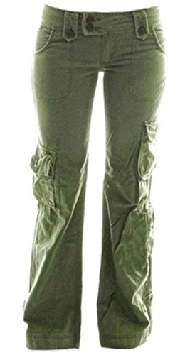 Loose Fit Sleep Pant (X-Future Women's Loose Fit Military Multi-Pockets Straight Cargo Long Pants Army Green 2XL)