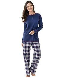 PajamaGram Snowfall Plaid Matching Family Pajama Set, Blue