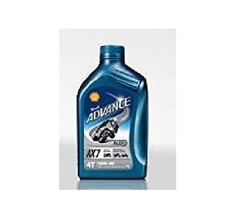 Aceite Shell Advance 4T AX7 15 W50 semisintético Moto/Scooter - Bote ...