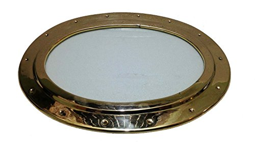 Nautical Ship/ferry/tug Boat/home Door Brass Oval Port Hole with Glass 5 Kg Weight by Atlantic