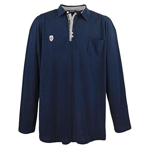 """Lavecchia Polo Tee Shirt """"FL–Maniche lunghe–per uomo–Taglia Grande–Blu"""