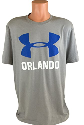Under Armour Mens Charge Cotton Big Logo T-Shirt Orlando (X-Large, Gray)