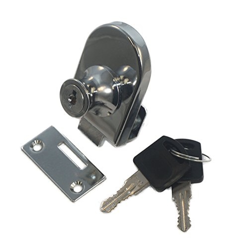 Single Glass Door Lock with Chrome Finish, Keyed Alike Single Glass Door Lock