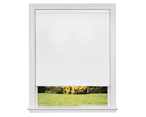 Redi Shade Artisan Select No Tools Custom Cordless Cellular Blackout Shades, Cloud White, 21 in x 72 in -
