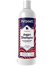 Petpost | Argan Shampoo for Dogs - Naturally Heals, Protects, Rejuvenates Dog Dry Skin & Coat - Argan Oil and Aloe Formula