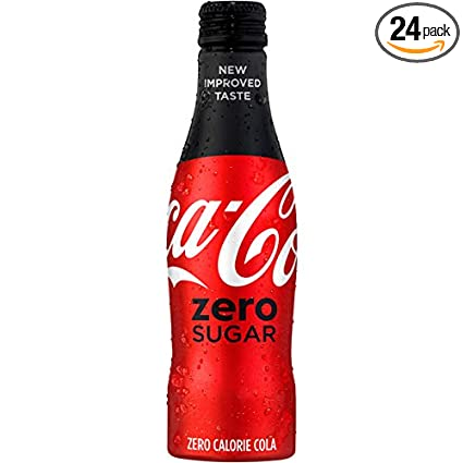 2017 COCA  COLA ZERO SUGAR ALUMINUM 8.5 OUNCE BOTTLE FULL NO DENTS OR SCRATCHES