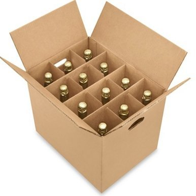 Dalul wine bottles Pack Moving and shipping Kit ,Wine Carrier Box - 12 Bottle Pack (1 Box) (Shipping Wine)