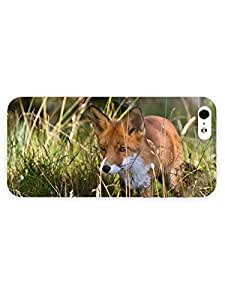 3d Full Wrap Case for iPhone 5/5s Animal Fox In The Grass