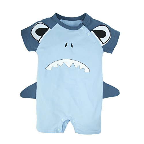 BIG ELEPHANT Baby Boys' 1 Piece Graphic Print Short Sleeve Romper Jumpsuit