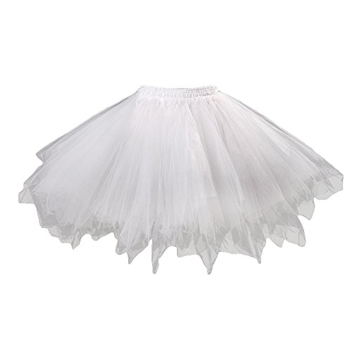 Tulle Hibote Vintage Robe Jupe Irrégulière Mignon Tutu Petticoat Femmes Mini Buste Ball Blanc Filles rEFwprqf0
