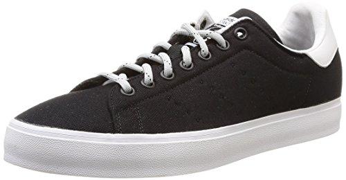 adidas Stan Smith Vulc, Men Low-Top Sneakers Schwarz (Core Black/Core Black/Ftwr White)