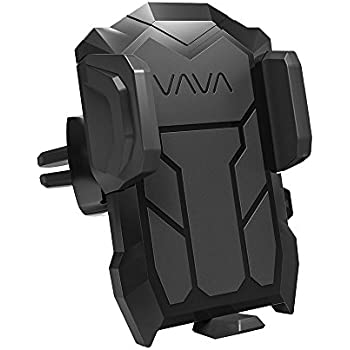 Car Phone Mount VAVA Phone Holder for Car Air Vent (Firm Grip, One Button Release, 360 Degree Rotatable Joint) – Fits iPhone Samsung Galaxy HTC LG Huawei and More