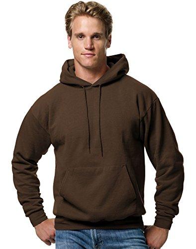 - Hanes ComfortBlend EcoSmart Men`s Pullover Hoodie Sweatshirt, Dark Chocolate, 3XL