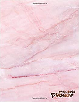 Planner 2019-2020: Pretty Pink Marble Daily, Weekly and ...
