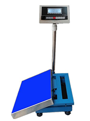 150kg/200kg/300kg Industrial Platform Scale Digital Heavy Duty Shipping Balance Postal Scale for Luggage, Shipping, Package Price Counting, Postal (150kg/10g, 120cm Platform)