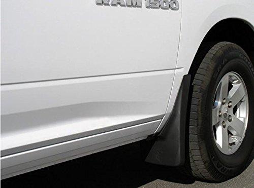 Rear Deluxe Molded Splash Guards OEM Mud Flaps Fit for 2011-2015 Dodge Ram 1500 2500 3500 Custom Molded 2pcs with Logo Yomikoo Mud Flaps