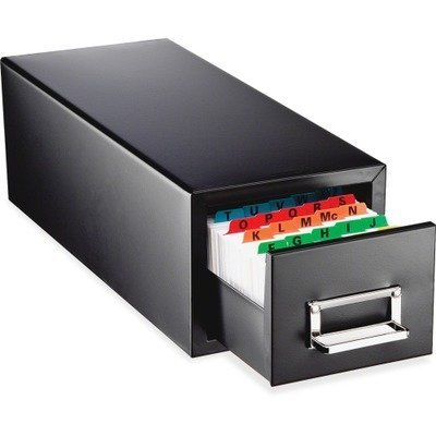 MMF263F5816SBLA – MMF Drawer Card Cabinet Holds 1 by STEELMASTER