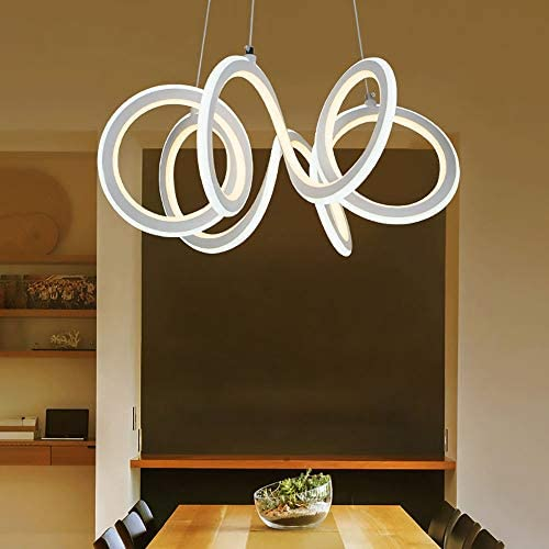 H.Y.BBYH Pendant Lamp Modern Minimalist Silicone Iron Shade Material LED Restaurant Living Room Bedroom Chandelier