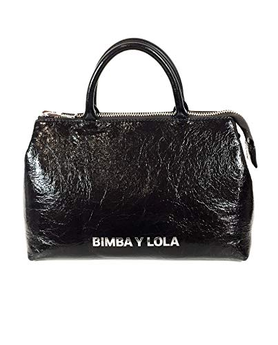 Bimba leather Lola y black bag crossbody Medium 182BBAL2I Women AqAxCr