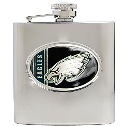 NFL Philadelphia Eagles 6oz Stainless Steel Hip Flask ()